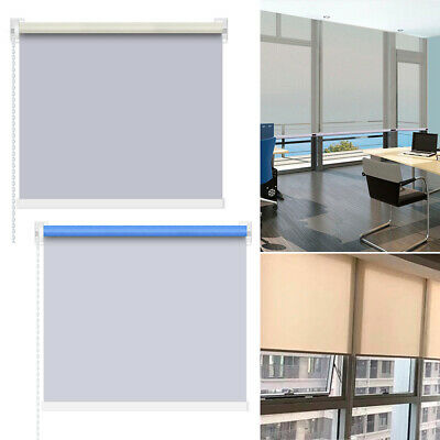 Blinds Window Beige Easy Bule White Fit Velvet Crushed Trimmable Roller Blinds