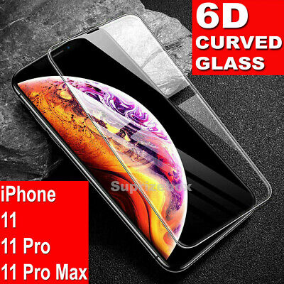 For iPhone 11 Pro Max Screen Protector 6D FULL CURVED GORILLA 9H TEMPERED GLASS