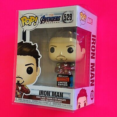 ✨NEW✨ Funko Pop! Avengers Endgame Iron Man w/ Gauntlet NYCC 2019 (IN PROTECTOR)