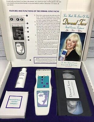 Dermal Tone Facial Exerciser Treatment Set Exercise Tones Tightens Lifts Tested