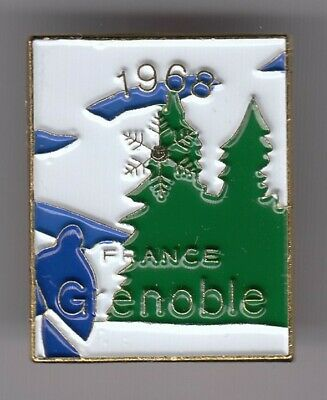 Rare Pins Pin's .. Olympique Olympic Puzzle Hiver Winter Grenoble France 1968~19