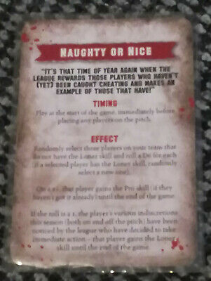Blood Bowl Card Naughty Or Nice Random Events Christmas White Dwarf Promo Extra