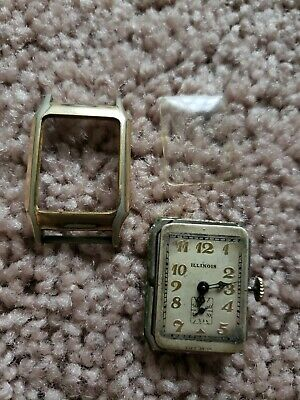 Vintage Early Old Illinois Wristwatch 10K Gold Filled, As is parts/Repair!