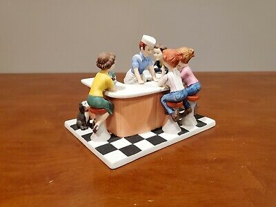 1986 Norman Rockwell Figurine The Soda Jerk Saturday Evening Post