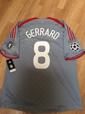 Liverpool Away Shirt. Champions League. 2008. #8 Gerrard. BNWT.