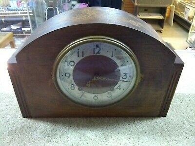 Mid-Century Plymouth Clock 8-Day Pendulum Brass/Thomaston, CT USA (S5-1)