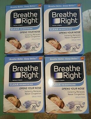 120 Breathe Right Clear Nasal Strips