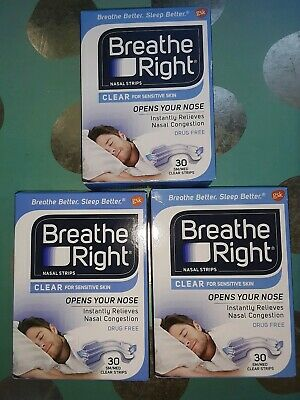 90 Breathe Right Clear Nasal Strips
