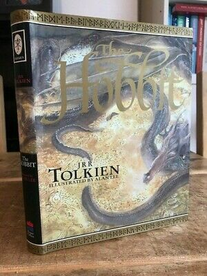 J R R Tolkien THE HOBBIT Hbk Dj Vgc Illustrated by Alan Lee