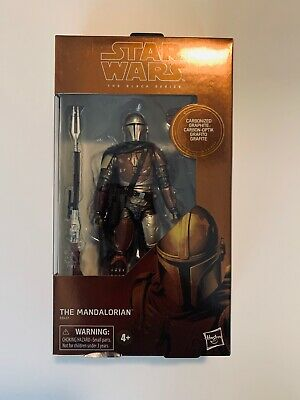 "TARGET EX Star Wars The Black Series 6"" Carbonized Mandalorian 2019"