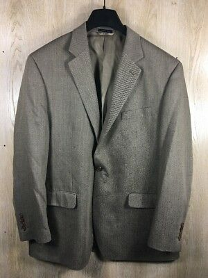 Ralph Ralph Lauren Mens Sport Coat Blazer 2 button Brown Tan Herringbone 46R
