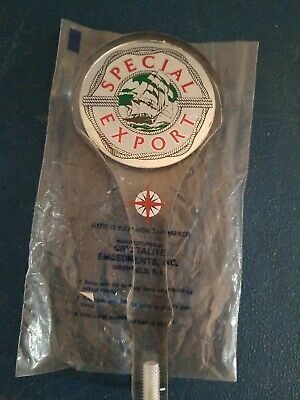 """VTG 1970s special export beer clear lucite tap handle 8"""" ship & water nautical"""