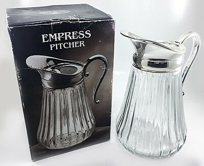 Empress Silverplate and Crystal Pitcher 48 oz Paul Revere Silversmiths Item N212