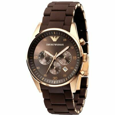 Emporio Armani AR5890 Rose Gold Men Chronograph Watch - Genuine with Certificate