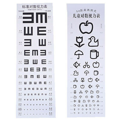 Wallmounted Waterproof Eye Chart Testing Cahrt Visual Testing Chart for Hospi@a