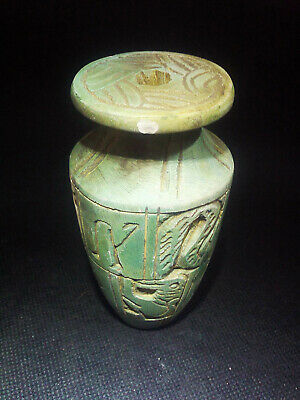 EGYPTIAN ANTIQUES ANTIQUITIES Pharaoh Pharaonic Small Stone Vase 3150-2510 BC