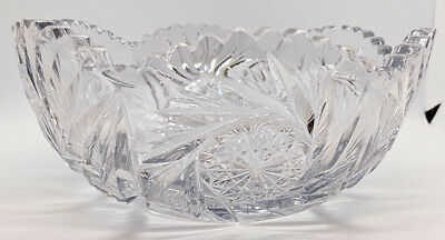 c. 1910 Clapperton Signed Cut Crystal Bowl