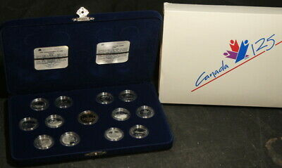 125th Anniversary of Canada 1992 Sterling Silver 25 Cent Proof Set