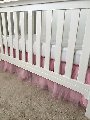 Pottery Barn Kids Veronica Pink Tulle Crib Skirt