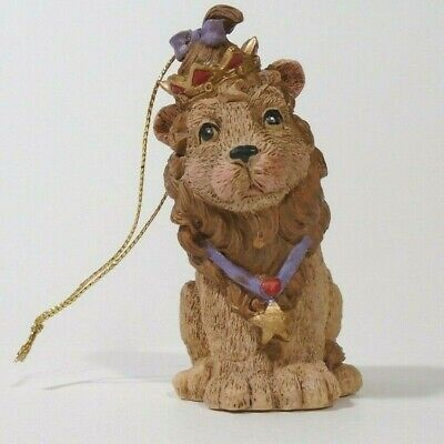 Resin Lion Christmas Ornament Aslan Lion Witch Wardrobe Crowned Holidays Xmas