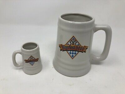 JAGERMEISTER SET MUGS JAGERFEST NEW MILLENIUM 1999-2000 LARGE AND MINI Bomb!