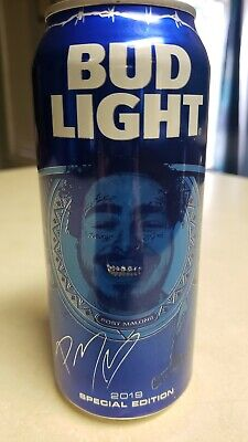2019 Special Edition Post Malone Bud Light Can New Runaway Hollywood's Bleeding