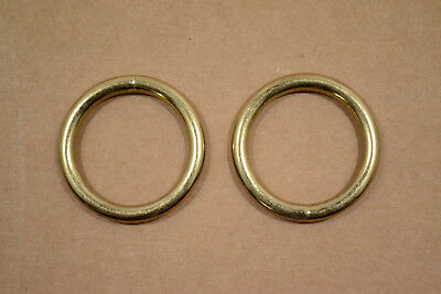 """O Ring - 1 1/4"""" - Brass Plated - Wire Welded - Pack of 24 (F417)"""