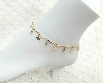 Woman Girls Ankle Bracelet Star Dangle Anklet Foot Jewelry Beach Chain US 2
