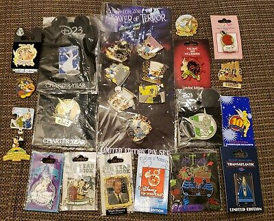 Walt DISNEY Limited Edition Release Trading Pin Lot of 25 D23 Mickey Tink
