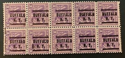 us precancel - 537 - WW1 Victory - block of ten - Buffalo, NY - VF