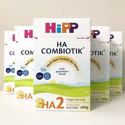 HiPP HA Hypoallergenic Stage 2 Combiotic Organic Infant Formula 6 Boxes Of 600g