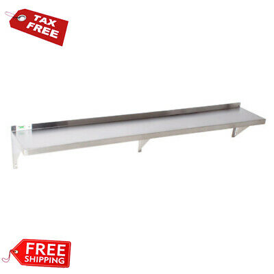 """12"""" x 72"""" NSF Wholesale Stainless Steel Restaurant Kitchen Solid Wall Shelf"""