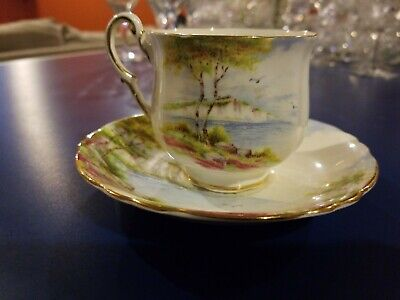 Cliffs of Dover Teacup and Saucer Paragon