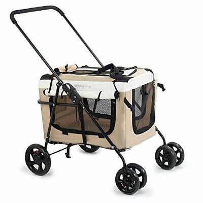 Display4top Pet Voyager Poussette Chien Chat Poussette Landau Jogger Buggy w/Bl