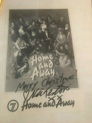 TV FAN CARD HOME AND AWAY Crew signed by NIC TESTONI