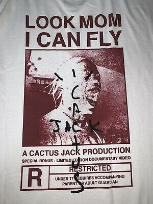 TRAVIS SCOTT Look Mom I Can Fly Merch Tee Hoodie Mens Size XL 100% Authentic