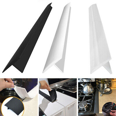 Am_ Rubber Kitchen Stove Counter Gap Cover Easy Clean Heat-resistant Protector C