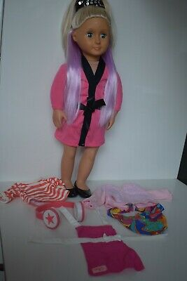 Our Generation Doll with Clothes 2 Colour Hair