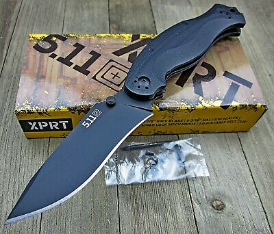 5.11 Tactical XPRT CPM S30V Blade G10 Large Folding Pocket Knife Fox Knives NEW