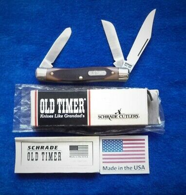 """Schrade USA made 8OT Old Timer """"Senior Stockman"""" in Box/Papers"""