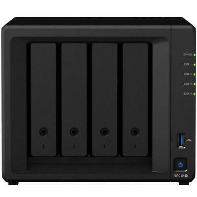 Synology DS918+ Network Storage 4 Bay NAS Intel Quad Core 1.5GHz 0TB 4GB USB