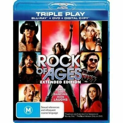ROCK OF AGES Extended Edition New Blu-Ray + DVD + Digital TOM CRUISE ***