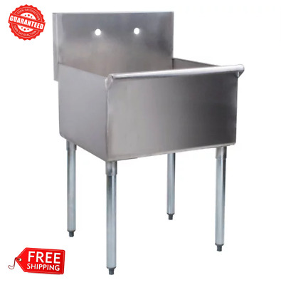 "24"" x24"" x 14 Stainless Steel Commercial Utility Sink Prep Hand Wash Laundry Tub"
