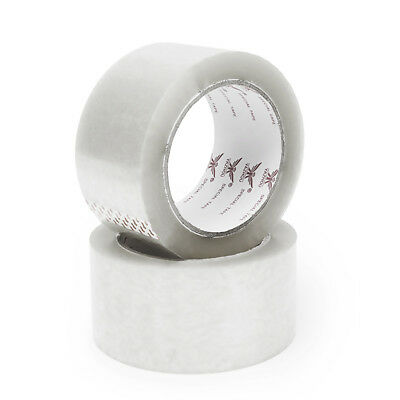 1Roll Durable Tensile Strength Clear Carton Boxes Sealing Packing Package Tapes