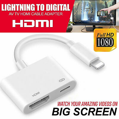 Lightning to HDMI VGA Digital AV Adapter Cable For Apple iPhone X 8 7 6S 6 Plus