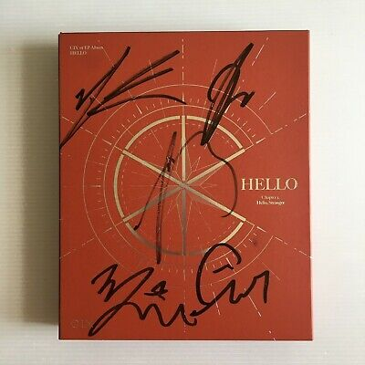 CIX 1st EP ALBUM HELLO Chapter 1. HELLO VER. OFFICIAL ALL MEMBER SIGNED + 3 PC++