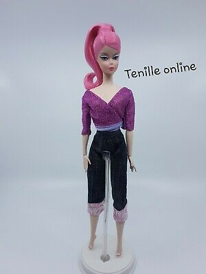 New Barbie doll clothes fashion outfit Jeans top casual pink silkstone