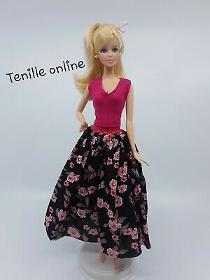 New Barbie doll clothes fashion outfit quality pretty pink floral summer