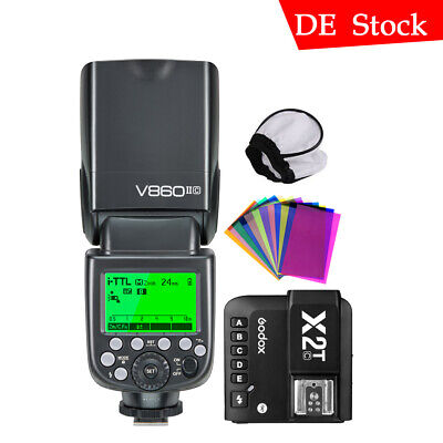Godox V860II-C Camera Flash Speedlite Bluetooth X2T-C Transmisor Para Canon 810D