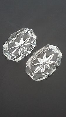 Very Pretty Pair of Salerons Crystal Size - Antique French Crystal Salt